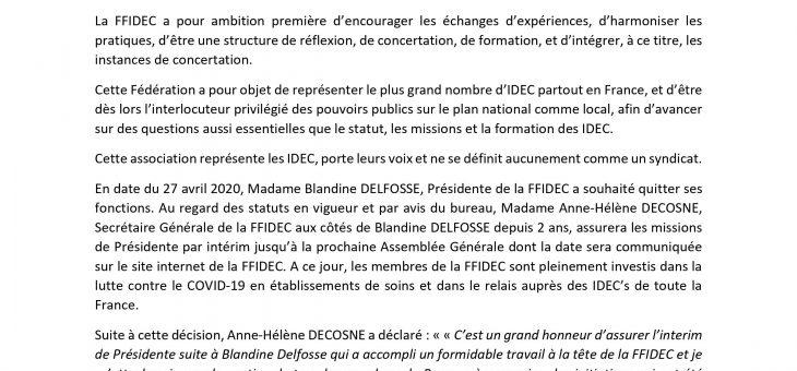 Communiqué FFIDEC